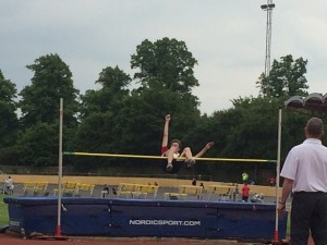 Josh high jump Reading 31st May 2014