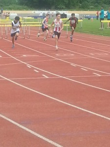 Liam winning hurdles Reading 31st May 2014