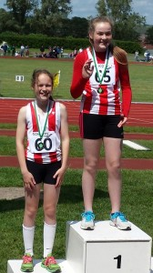 Sam & Poppy Javelin podium Hampshire championships 2014