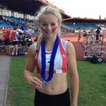 Ellie Hodgson shot putt silver