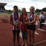 Riz, Ellie & Kate with 6th place trophy