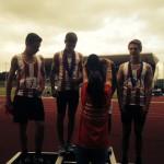 U15B 4 x 300m team getting bronze medals