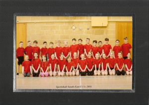 Hampshire U11 sportshall team 2016