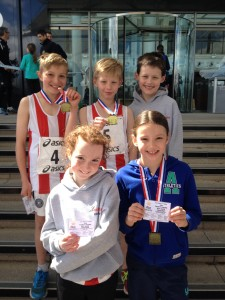 U11 winning teams Hants road relays