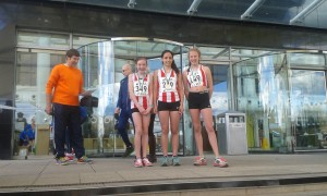 U13 girls Hants road relays