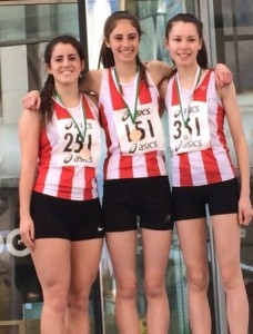 U15 girls road relays
